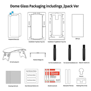 Galaxy Note 8 Dome Glass Tempered Glass Screen Protector