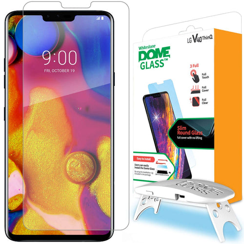 LG V40 Dome Glass Tempered Glass Screen Protector