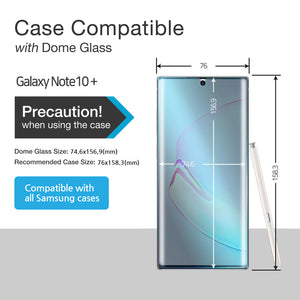Galaxy Note 10 Plus / Note 10 Plus 5G Dome Glass Tempered Glass Screen Protector