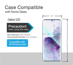 Galaxy S20 / S20 5G Dome Glass Tempered Glass Screen Protector