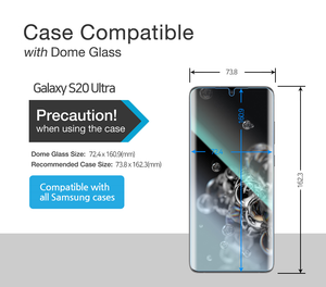 [E-JIG] Galaxy S20 Ultra Dome Glass Tempered Glass Screen Protector - Three Pack