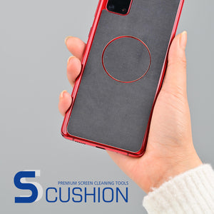 [S-Cushion] Galaxy S21 Plus Premium Microfiber Shock Proof Back Cover with Screen Cleaning feature