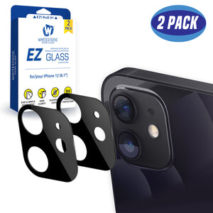 "Whitestone EZ iPhone 12 Camera Screen Tempered Glass Protector - 2 Pack (6.1"")"