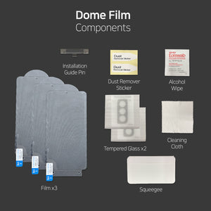 [Dome Premium Film] Galaxy S21 8H Film Screen Protector with Glass Camera Protector - 5PACK
