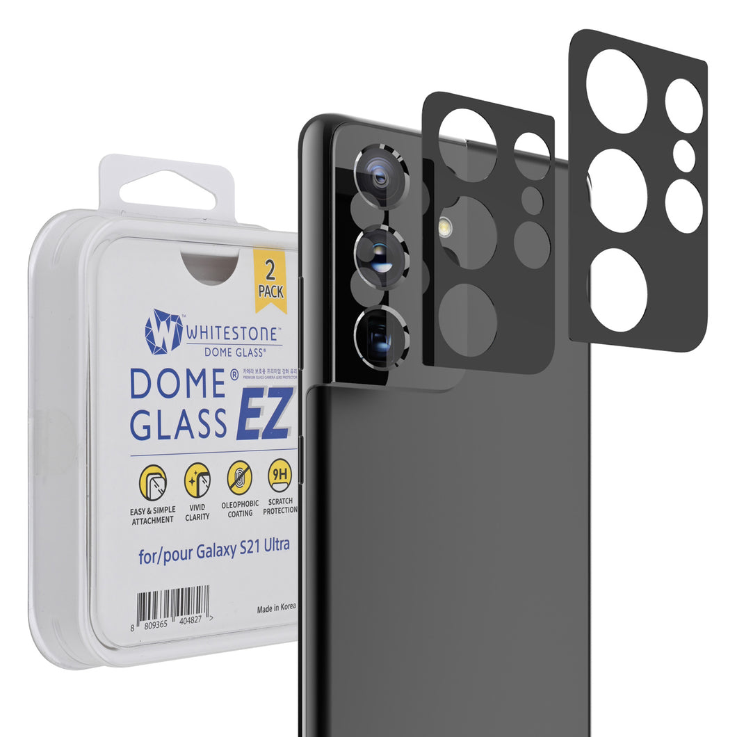Whitestone EZ S21 Ultra Camera Screen Tempered Glass Protector - 2 Pack