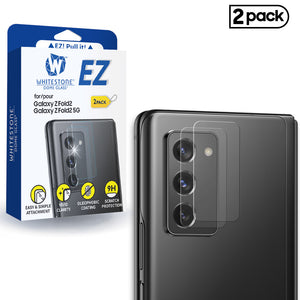 Whitestone EZ Galaxy Z Fold2 Camera Screen Tempered Glass Protector - 2 Pack