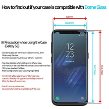 Load image into Gallery viewer, Galaxy S8 Dome Glass Tempered Glass Screen Protector