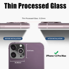 "Load image into Gallery viewer, Whitestone EZ iPhone 12 Pro Max Camera Screen Tempered Glass Protector - 2 Pack (6.7"")"