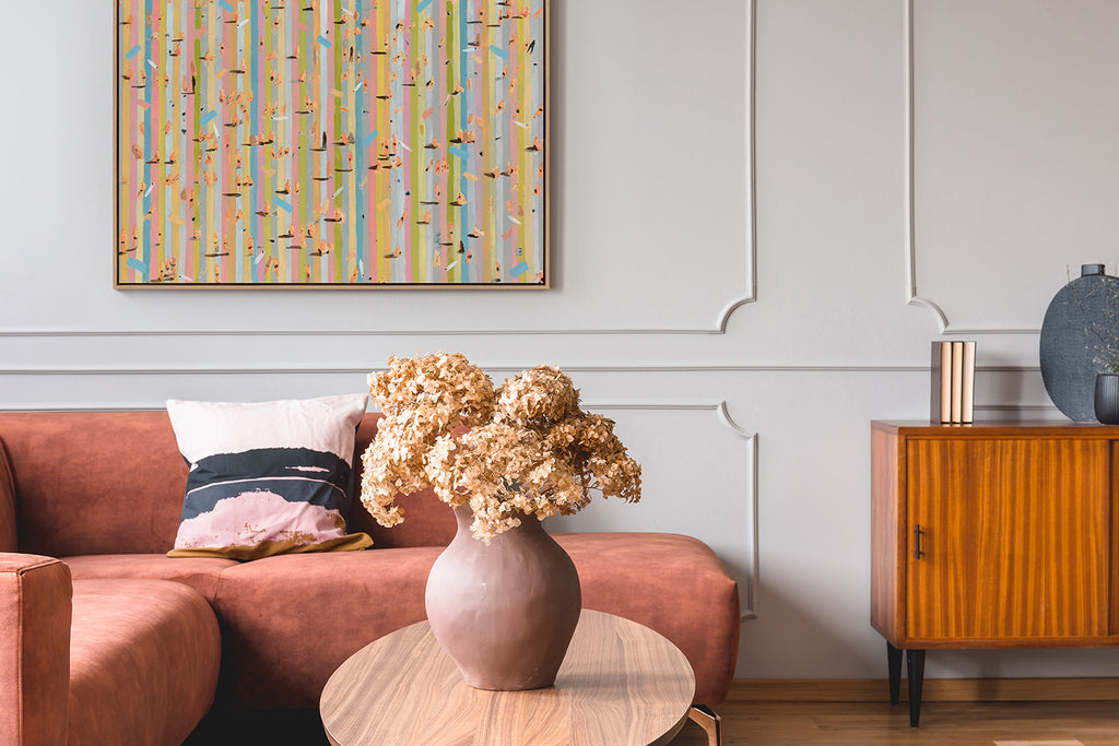 Beach House Fly Strip View by Mitchell English shown here in a private collector's home