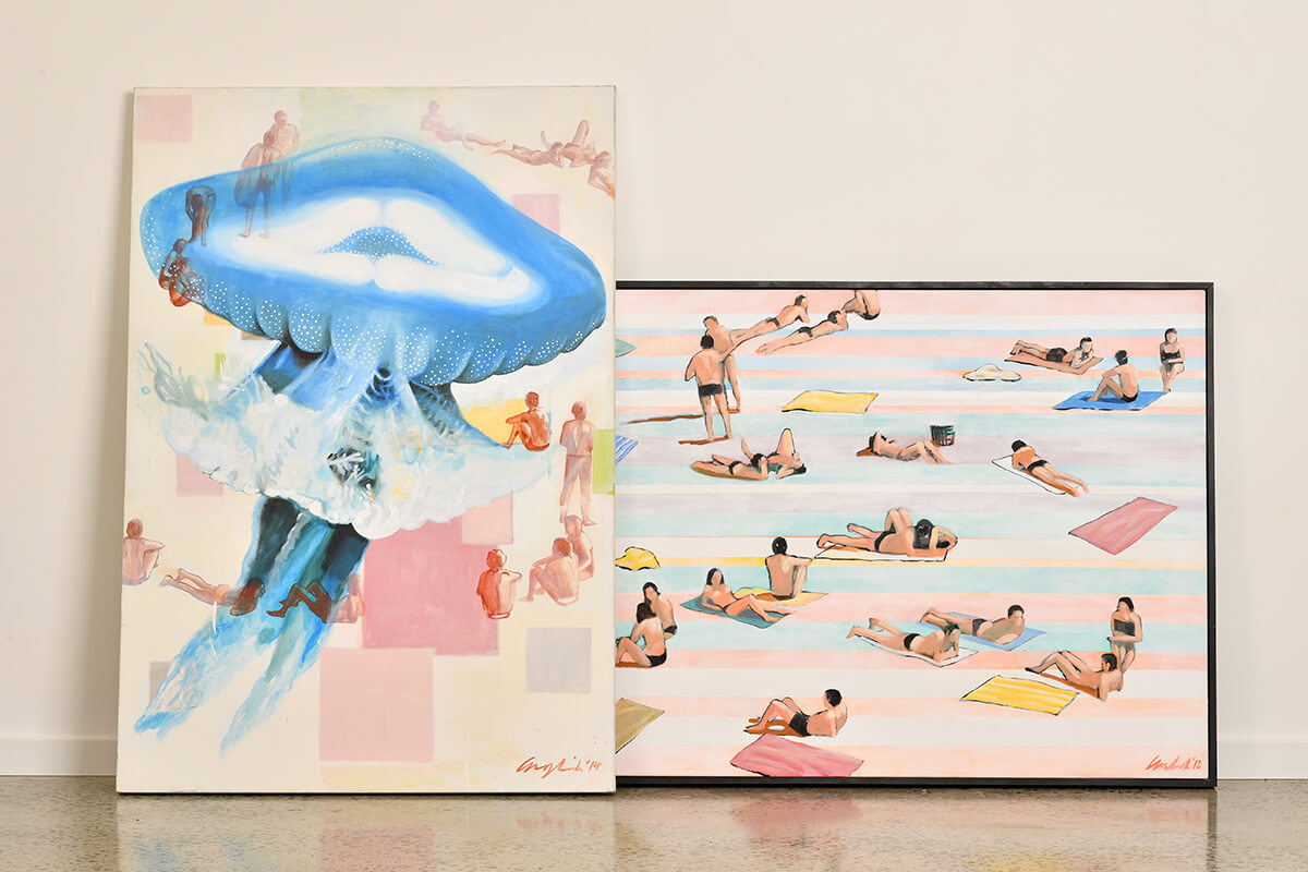 Mitchell English, Collection of Original Painting, Surf Art