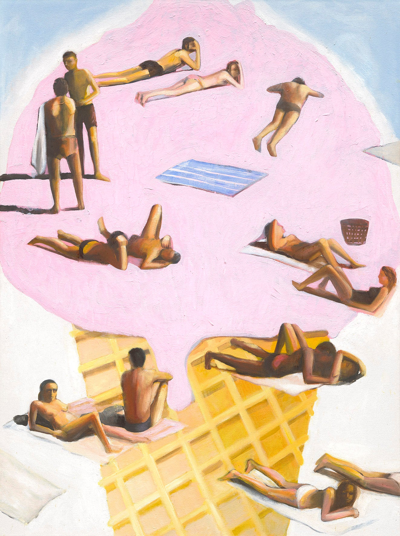 Mitchell English, Palm Beach Gelato, Limited edition fine art print, Australian artist, Surf Art, decor, interior design
