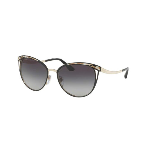 Bvlgari BV6083 black pale gold women's designer sunglasses