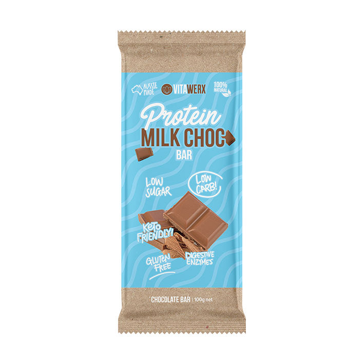 Vitawerx Chocolate Bar - Milk Chocolate 100g