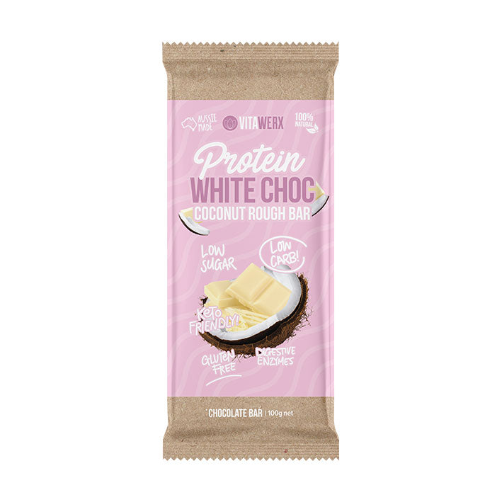 Vitawerx Chocolate Bar - White Coconut Rough 100g