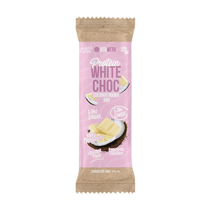 Vitawerx Chocolate Bar - White Coconut Rough 35g
