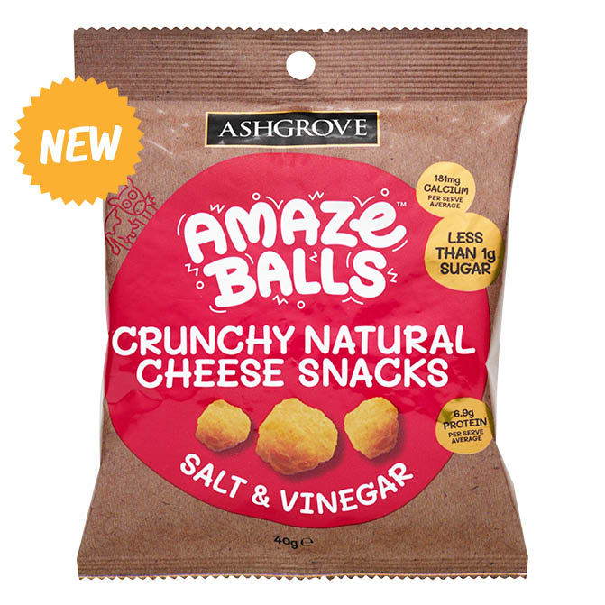 Ashgrove Cheese Amazeballs - Salt & Vinegar 40g