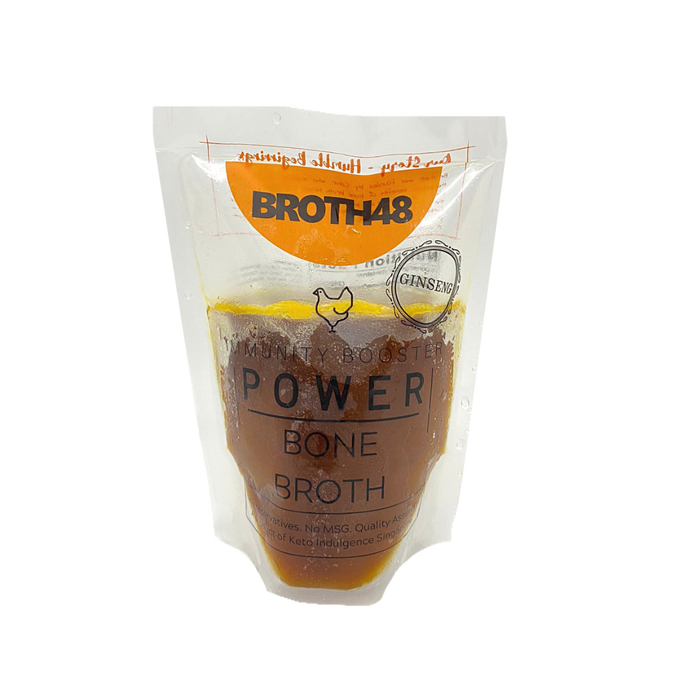 Broth48 Ginseng Chicken Bone Broth 500ml (Frozen)