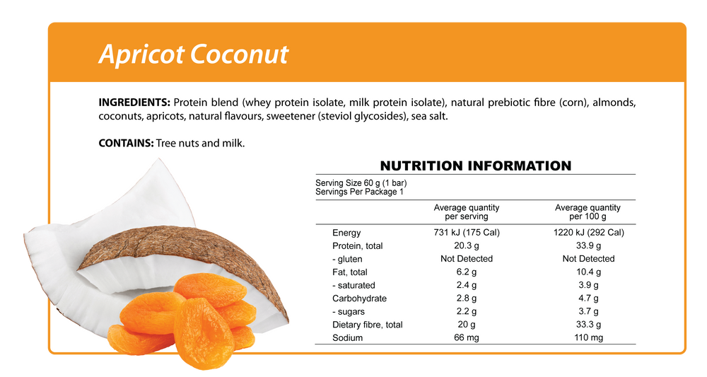 Smart Protein Bar - Apricot Coconut