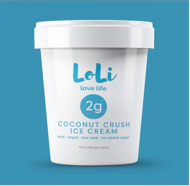 Loli Coconut Crush Vegan Keto Ice Cream
