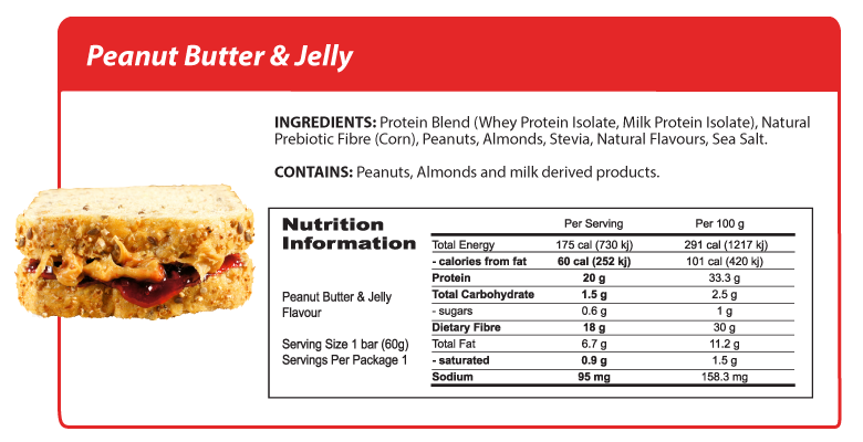 Smart Protein Bar - Peanut Butter and Jelly