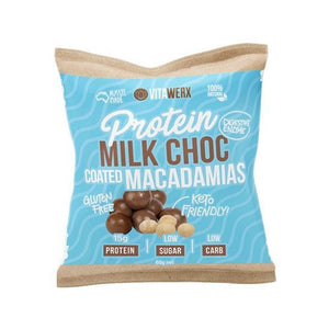 Vitawerx Chocolate Coated Macadamias - Milk 60g