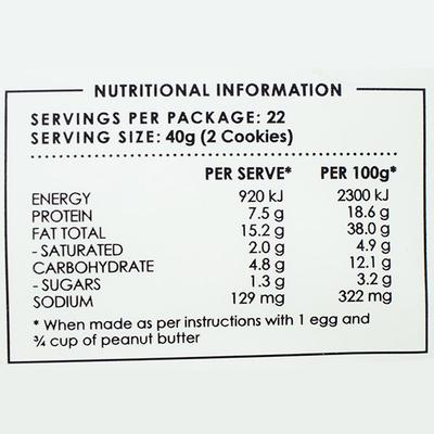 The Monday Food Co. Keto Cake Mix - Peanut Butter Keto Cookie