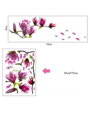 Purple Flower Wall Sticker