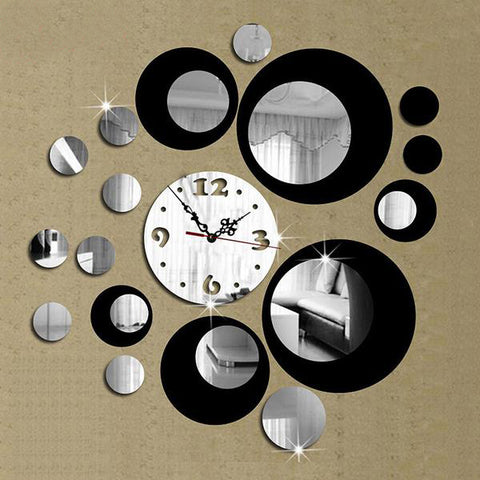 Vintage Mirror Wall Clock