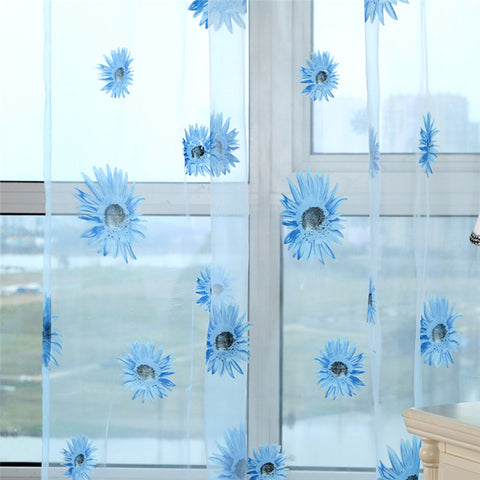 Flower Tulle Curtain