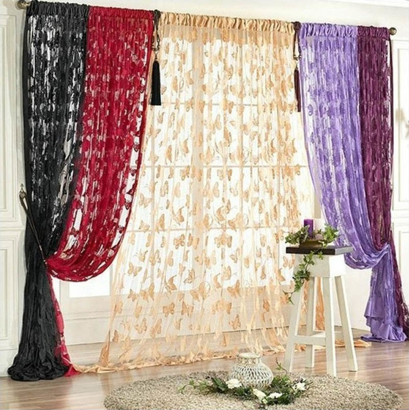 Knitted Butterfly Curtain