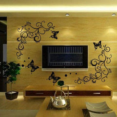 Vine Butterfly Wall Sticker