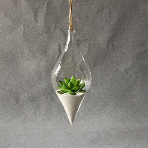 Clear Container Hanging Vase