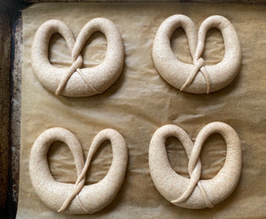 Soft Spelt and Rye Sourdough Pretzel Workshop