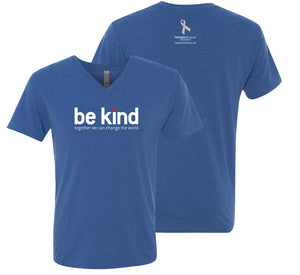 Ray's Be Kind Blue V-neck Tee