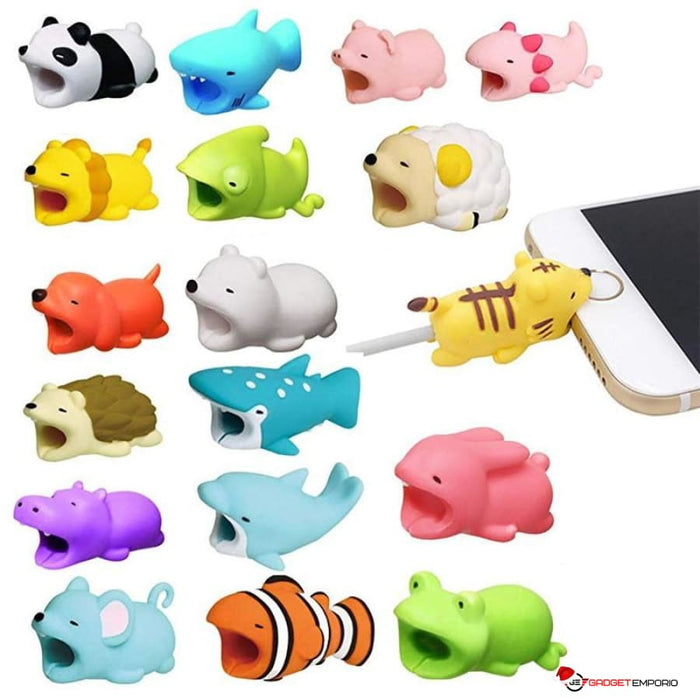 10 Pack Animal Cable bites Cable Protectors - Prevent Damaged Charge Cables for iPhone & Samsung - GadgetEmporio.com