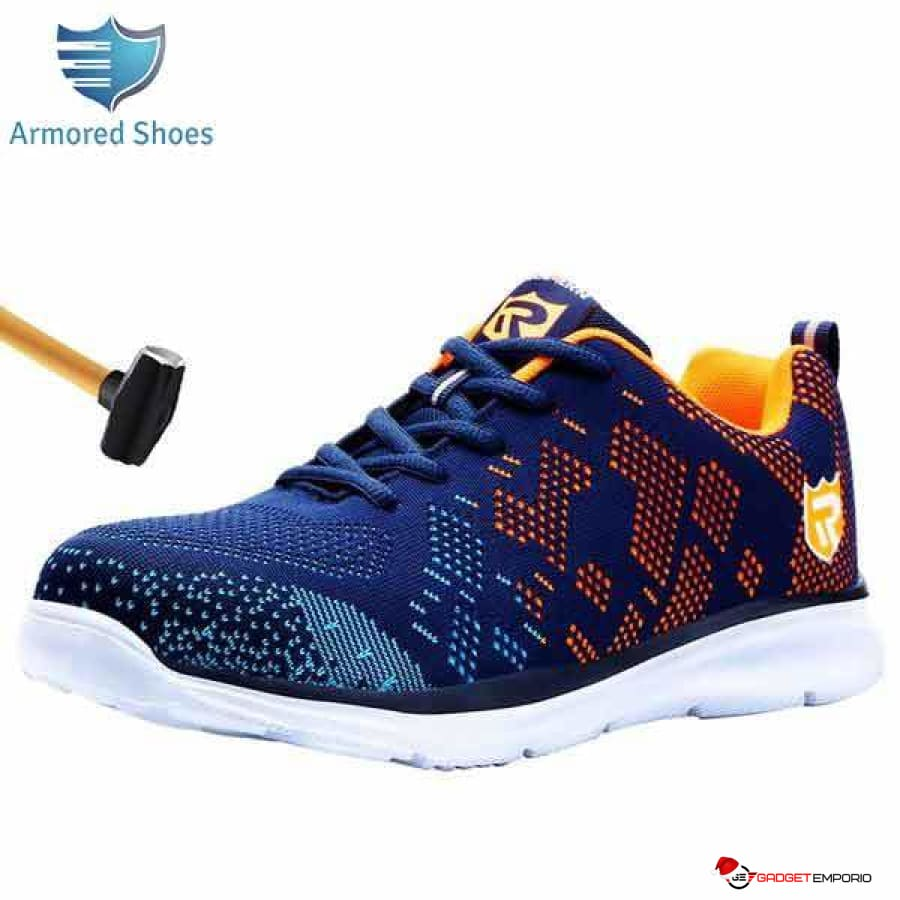 ARMORED SNEAKERS - Comfortable Steel Toe Indestructible Safety Sneakers - Approved Work Shoes - GadgetEmporio.com