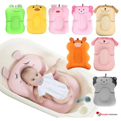 Baby Air Cushion Non-Slip Bathtub Pad & Bath Seat Support for Newborn Babies