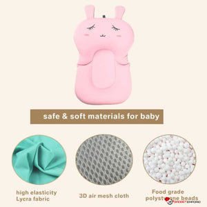 Baby Air Cushion Non-Slip Bathtub Pad & Bath Seat Support for Newborn Babies - GadgetEmporio.com