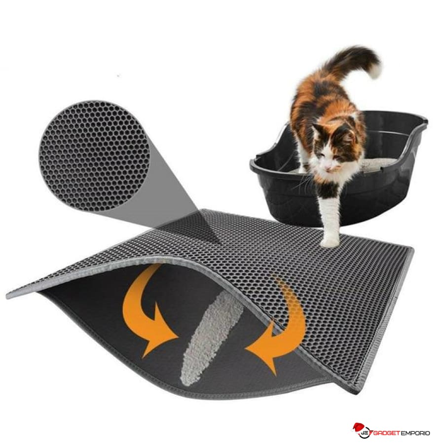 Cat Litter Mat EVA Double-Layer Cat Litter Trapper Mats with Waterproof Bottom Layer - GadgetEmporio.com