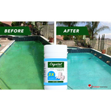 CRYSTAL CLEAR POOL WATER DISINFECTANT - CLEARS CLOUDY WATER FAST!