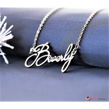 Custom Name Necklace - Personalize Font, Name, Gold or Silver Jewelry Link Chain Necklaces - GadgetEmporio.com