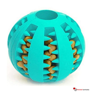 Dog IQ Pet Treat Ball with Dog Treat Inserts - Chew Toys with Treats For Cleaning Dog Teeth - GadgetEmporio.com