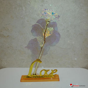 Galaxy Rose Beautiful 24K Gold Plated Rose & LED Base Perfect Romantic Gift that Lasts Forever - GadgetEmporio.com