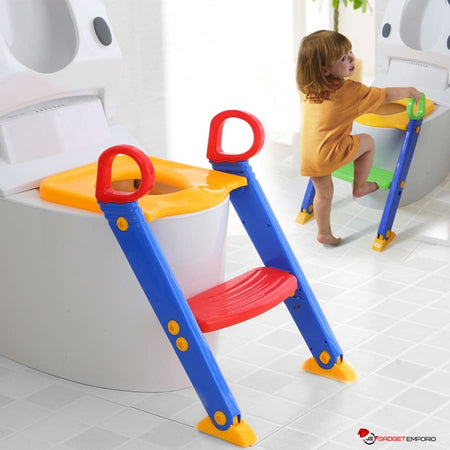 Kids Potty Training Seat With Step Stool Ladder  - GadgetEmporio.com