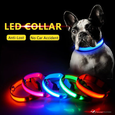 LED DOG COLLAR - ILLUMINATES YOUR DOG AT NIGHT TO HELP AVOID LOSS AND ACCIDENTS - GadgetEmporio.com