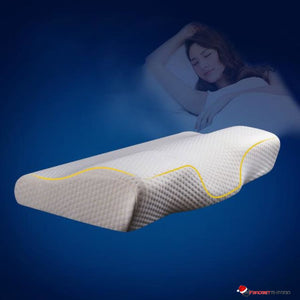 Memory Foam Contoured Neck Pillow - Helps reduce Snoring & Sleep Apnea - GadgetEmporio.com