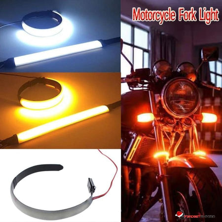 Motorcycle Fork 12V LED Light with 120 Degree View Angle and Turn Signal Light Strip for Motorcycle - GadgetEmporio.com