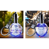 Personalized LED Crystal Key Chain with your Engraved Photo - GadgetEmporio.com