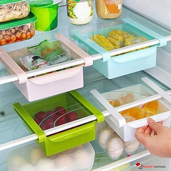 REFRIGERATOR SMART DRAWER STORAGE SHELF - SLIDE-ON DRAWERS - GadgetEmporio.com