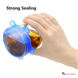 STRETCH LIDS The Original Stretchable Silicone Reusable Lids - Stretch to Seal any Container